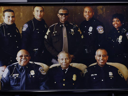 The White family. Front row, from left: Clarence White Jr., Clarence White Sr. and Rodney White Sr. Back row, from left: Christopher, Thomas, Keith, Rodney Jr. and LeEtta White.