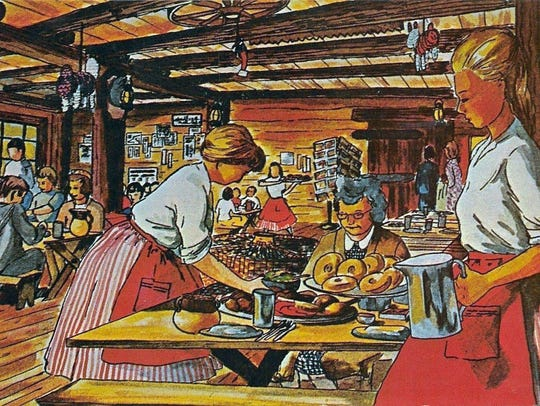 """""""Prospector's Dinners Served Family Style 'All You"""