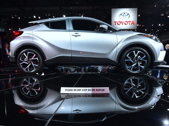 The 2017 Toyota C-HR is displayed following the Toyota