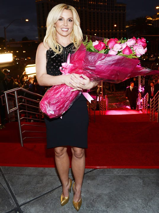 Britney with flowers