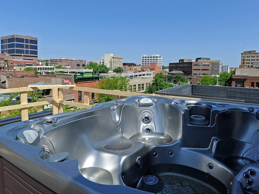 A Hot Tub With View Of Downtown Sioux Falls S D