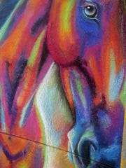 """""""A Horse of a Different Color"""" was created by Gary Hurst and his daughter Kasey Hurst, both of Menomonee Falls."""