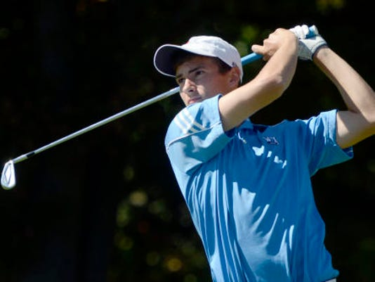 West York High School graduate Josh Rinehart is tied for 13th after the first round of the Pennsylvania Open golf tournament.