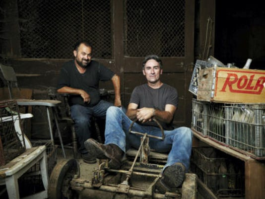 Frank Fritz, left, and Mike Wolfe of History Channel's American Pickers are in Pennsylvania.