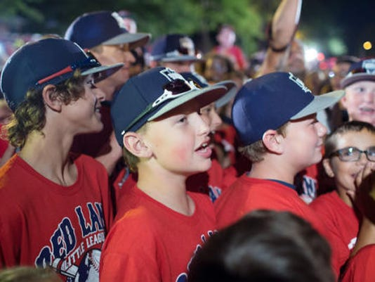 When the Red Land Little League team returned home, they were greeted by a large gathering of fans and followers.