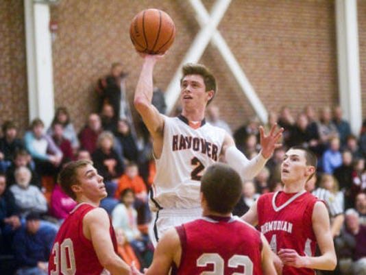 Nick Trish and Hanover are second in this week's District 3 boys' basketball ratings for Class AA. Bermudian Springs, also pictured, is fifth in Class AAA. (CLARE BECKER -- GAMETIMEPA.COM)