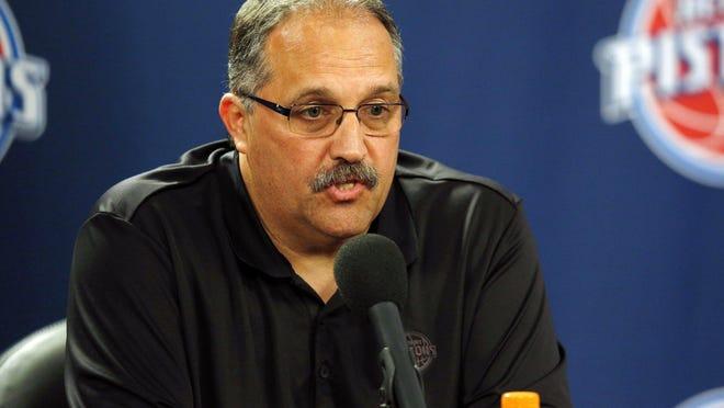 Pistons president/coach Stan Van Gundy has more lineup options this season.