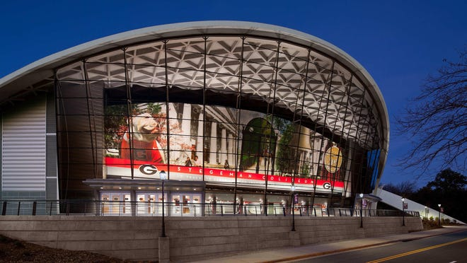 Stegeman Coliseum on the University of Georgia campus will be open for advance voting next month.
