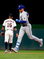 Toronto Blue Jays' Justin Smoak rounds the base path