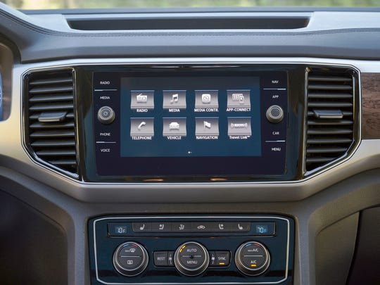 A large console touch screen on the Atlas is easy to adjust.