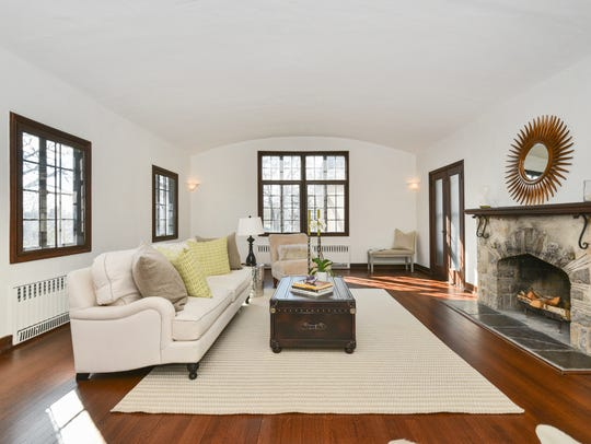 There are archways, French doors and refinished hardwood