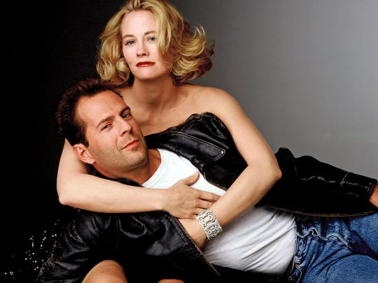 "Cybill Shepherd and a pre-movie stardom Bruce Willis starred in five seasons of ""Moonlighting."""