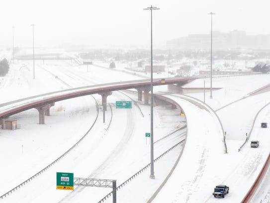 Un fuerte nevada congeló partes del norte de Texas,