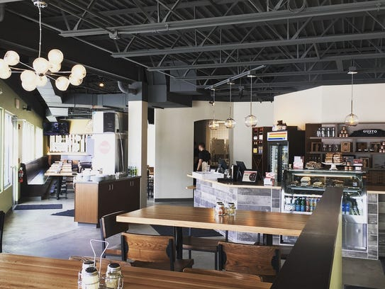 Gusto Pizza Co.'s new West Des Moines location seats 85 in the main dining area.