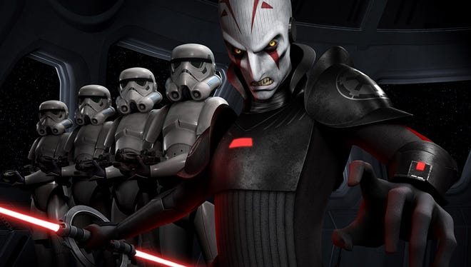 """An Imperial Inquisitor and a mess of Stormtroopers are the key baddies of the new """"Star Wars: Rebels"""" animated series, debuting next year."""