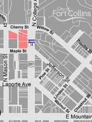The location of a metropolitan district proposed in Old Town to help fund public improvements needed to develop the site.