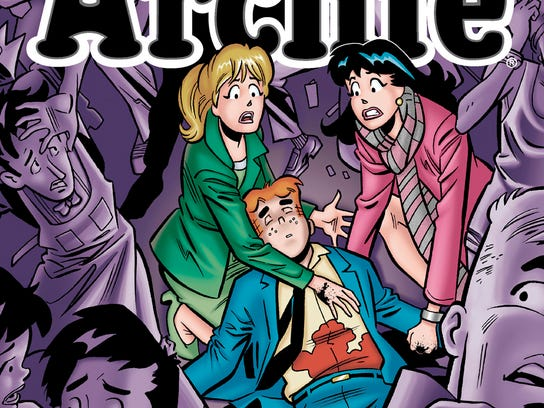 "This photo released by Archie Comics shows ""Life with Archie."" Archie Comics says the famous comic book character will heroically sacrifice himself while saving the life of a friend in a July 2014 installment of ""Life with Archie."" The comic book series tells the story of grown-up renditions of Archie and his Riverdale pals. (AP Photo/Archie Comics)"
