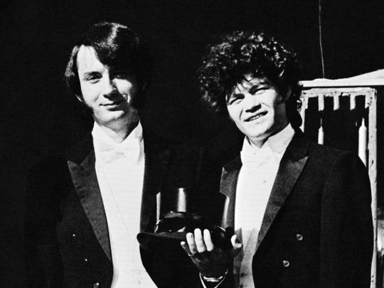 Michael Nesmith, left, and Micky Dolenz, pictured in