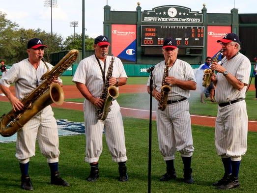 Lake Buena Vista, Fla.: Disney saxophone quartet entertains