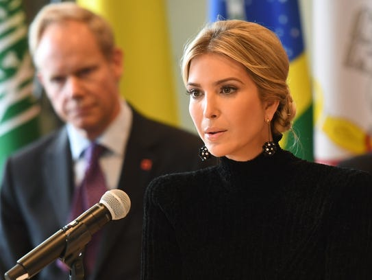 """Ivanka Trump addresses the event """"A Call to Action"""