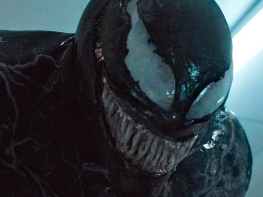 "In ""Venom,"" reporter Eddie Brock develops superpowers after becoming a host to an alien parasite."