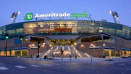 TD Ameritrade Park, home of the College World Series in Omaha, Nebraska.
