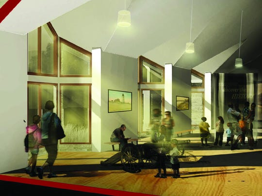 Artist's rendition of the renovated interior of the new Margaret H. Rollins Community Center.