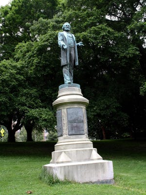 The Frederick Douglass monument in Highland Park.