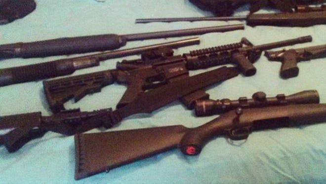 Instagram account of Nikolas Cruz shows weapons lying on a bed.