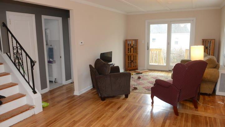 Living area of the Marlene Nardone home in Hawthorne, NJ.