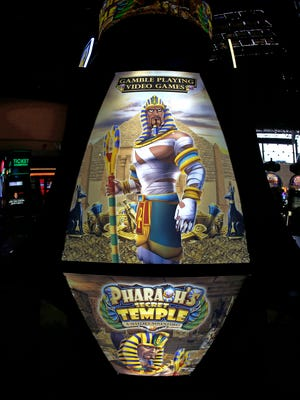 Pharaoh's Secret Temple  video gaming machine at Tropicana Casino.  Noah K. Murray/Special for the Record