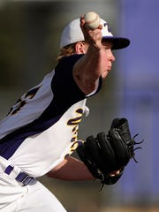 Wylie pitcher Hutton Frazier (37) throws a pitch during the top of the fourth inning of the Bulldogs' 13-3 win on Friday, March 24, 2017, at Wylie High School.