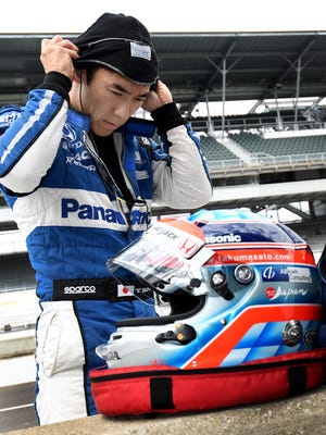 Rahal Letterman Lanigan Racing IndyCar driver Takuma Sato (30) during practice for the Indianapolis 500 at the Indianapolis Motor Speedway on Tuesday, May 15, 2018.