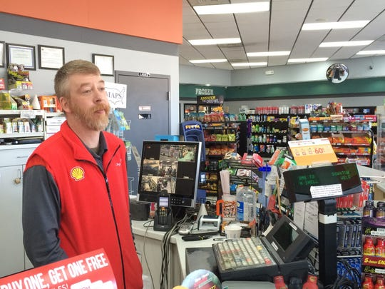 Downtown Shell manager Ryan Baenen told aldermen that the business is struggling and could fail without a liquor license.