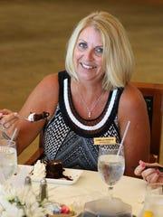 Camilla Sawick enjoying the delicious dessert.