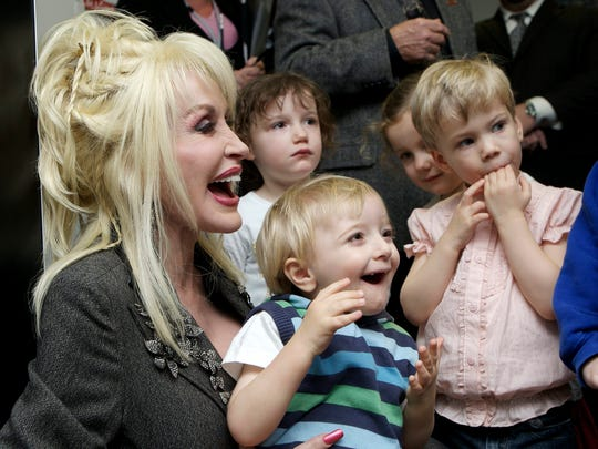 Dolly Parton and Ben Williams at the United Kingdom launch of Imagination Library.