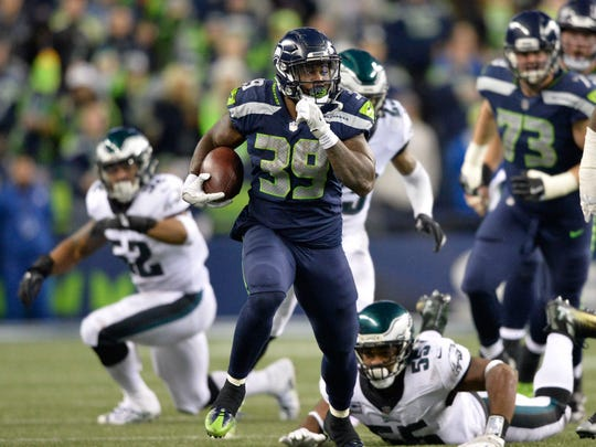 Mike Davis rushed for 240 yards on 68 carries (3.5 YPC) in six games with Seattle last season.