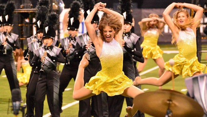 "The William Mason High School Marching Band performs its competition show  ""Somewhere,"" based on the musical ""West Side Story,"" at the 2015 Grand National Championships."
