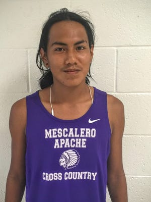Mescalero junior Alex Kaydahzinne is is doing well this season. He finished in eighth place at the recent Alamogordo Invite.