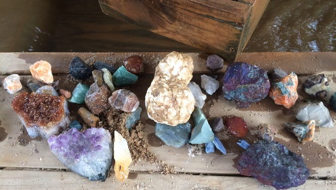 """Some of the precious rocks found by a """"miner"""" on a recent trip to Elijah Mountain Gem Mine in Hendersonville."""