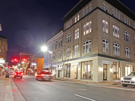 The Keezell Building on S. Main St., built in the early