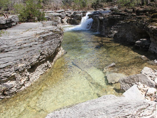 Hercules Glades Wilderness Area's hills, trails and rocky waterfalls draws many hikers and campers.