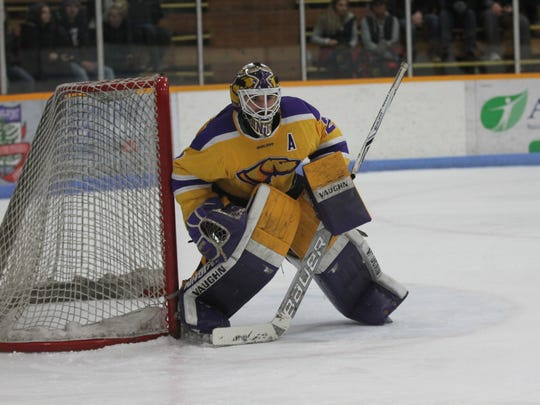 Goalie Max Milosek will join the Macon Mayhem of the SPHL after a strong senior season with the Pointers.