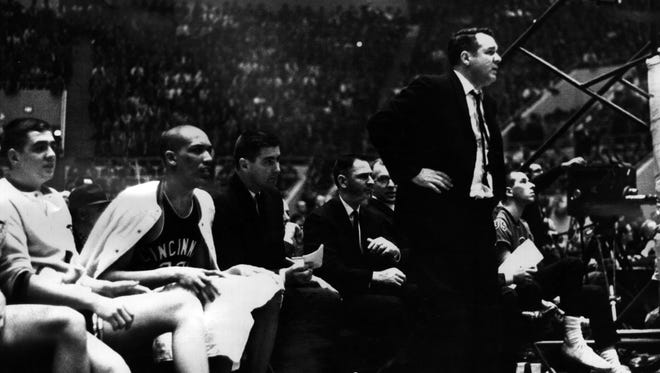 March 23, 1963: Final Buzzer FInds Jucker Bewilder: Loyola University of Chicago defeated the two-time defending champs, University of Cincinnati Bearcats, at the final moment of the NCAA Championship game. Loyola won 60-58. Cincinnati Enquirer/Fred Straub