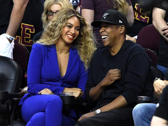 Beyoncé and Jay Z attend Game 6 of the 2016 NBA Finals