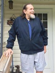 Matt Angerer, 62, of outside of his home in Carlisle.