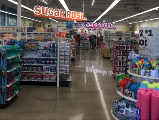 Lots of candy and lively aisles are to be found at