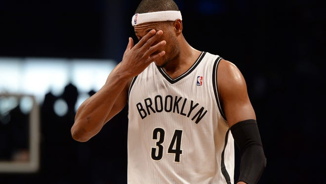 Paul Pierce during the loss to the Lakers on Wednesday.