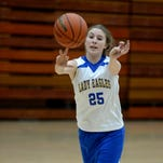 Lincoln High School's Kylei Klein practices Tuesday, Feb. 9, 2016, in Cambridge City.
