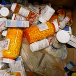 The Richmond Police Department fills boxes with collected prescription drugs during its two annual Prescription Drug Take-Back Days.